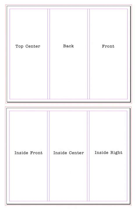3 Panel Brochure Template How To Set Up Tri Fold Brochures Graphic Design Layout Paper Sizes Bleeds Margins And