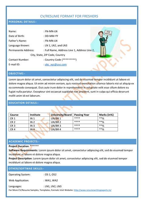 free resume formats sle resume format resume