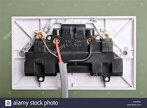 Rear View Of 3 Pin Electrical Socket Wiring Stock Photo  13890624