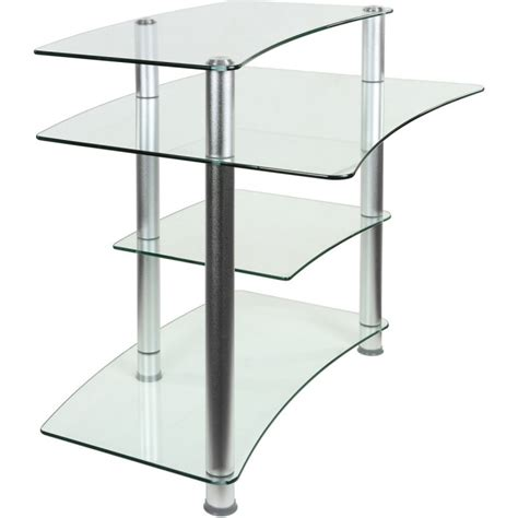 bureau pour ordinateur en verre clair