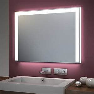 miroir de salle de bain avec led et fonction bluetooth 40 With carrelage adhesif salle de bain avec miroir led 80