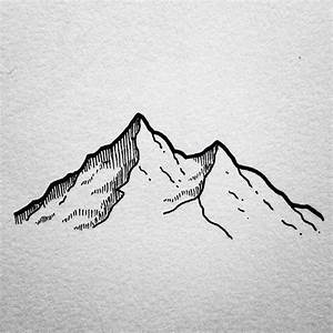 This one ️ … | drawings | Pinterest | Doodles, Mountain ...