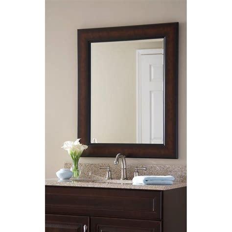 Bronze Bathroom Mirror by Martha Stewart Living Maracaibo 36 In X 30 In Coppered
