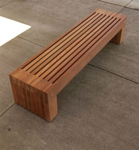 backless simple wood bench plans   diy wood