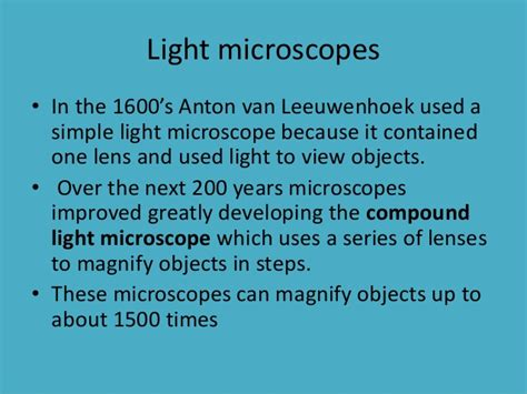 light microscopes can magnify objects up to the cell