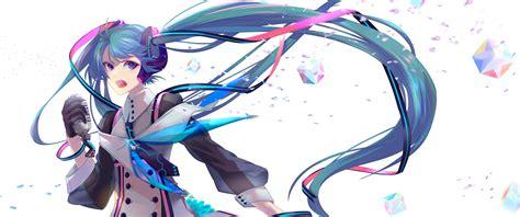 Anime Wallpaper 3440x1440 - two magical mirai miku wallpapers at 3440x1440 hd