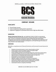 construction company resume template resume template 2017 With sample resume for it companies