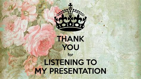 Thank You For Listening To My Presentation Poster  Ntduong295  Keep Calmomatic
