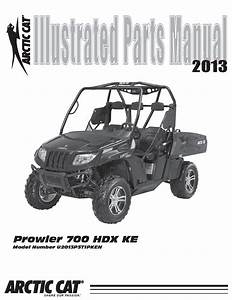 Arctic Cat 2013 Prowler 700 Hdx Ke Ipm Part Manual Pdf Download - Service Manual