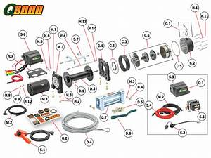 Q9000 Winch Replacement Parts