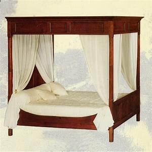 Lit A Baldaquin En Bois : lit baldaquin d 39 annie n 1 meubles de normandie ~ Teatrodelosmanantiales.com Idées de Décoration
