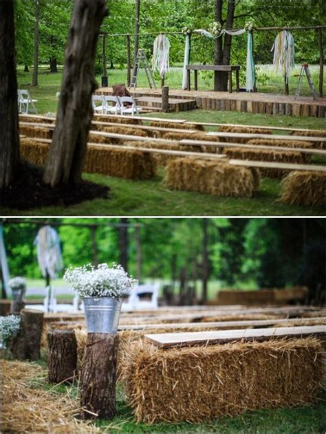 Country Backyard Wedding Ideas - country chic wedding in tennessee wedding hay
