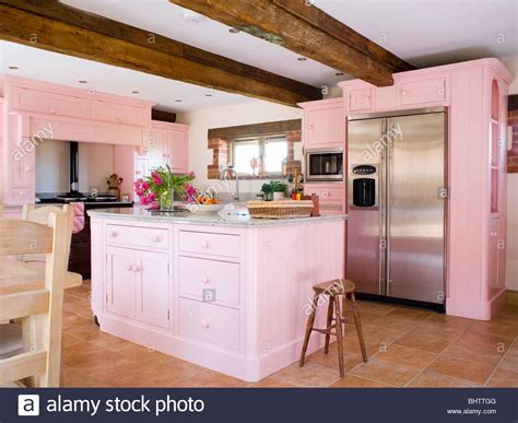 kitchen island units uk pastel pink fitted units and island unit in country 5189