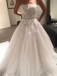Monique lhuillier roma wedding dress size 0 xs tradesy for Size 0 wedding dresses