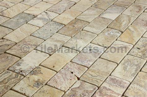Travertine Scabos 2x4 Tumbled   TileMarkets®
