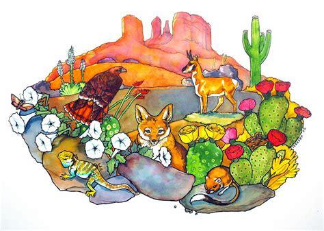 desert animals drawing  jill iversen