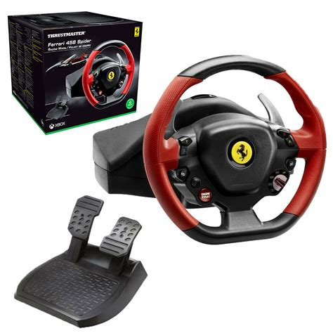 The thrustmaster ferrari 458 spider only works with the xbox one and microsoft store games. Thrustmaster Ferrari 458 Spider Racing Wheel for Xbox One With Forza Motorsport   eBay