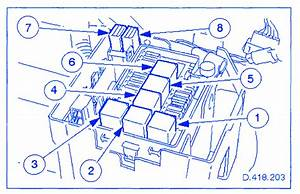 Jaguar Xk-series 2007 Front Fuse Box  Block Circuit Breaker Diagram