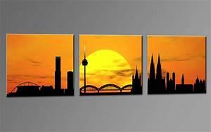 Leinwand Köln Skyline : skyline k ln orange c01264 leinwand 3 bilder die ~ Sanjose-hotels-ca.com Haus und Dekorationen
