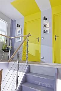 melange de couleurs sympa gris parme avec jaune petant With couleur peinture couloir entree 7 notre maison en provence amenagement et decoration