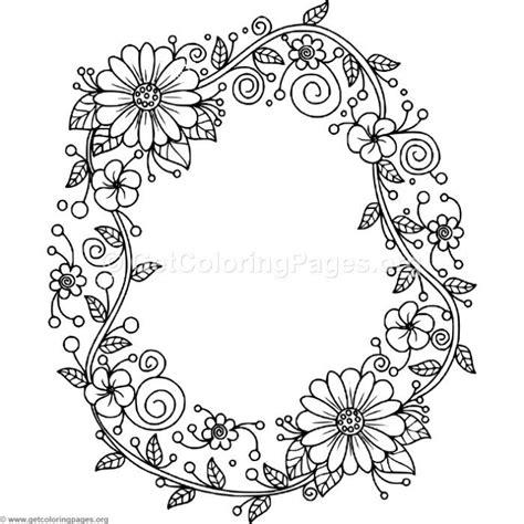 floral alphabet letter  coloring pages coloring coloringbook coloringpages