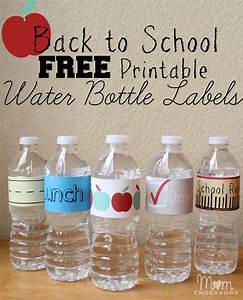 convenient fun drinks for back to school lunches with With free water bottle stickers