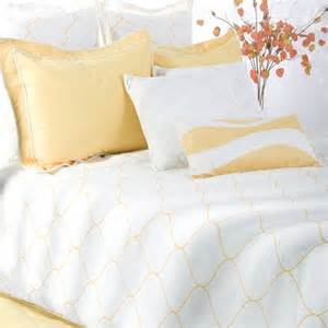 sutton bedding set in yellow white modern bedding by wayfair