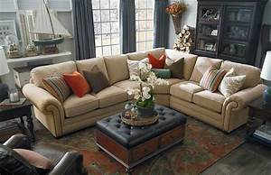 HGTV Home Custom Upholstery Large L Shaped Sectional By