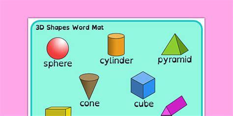 3d Shape Word Mat Dyslexia 3d Shape Word Mat With Dyslexia