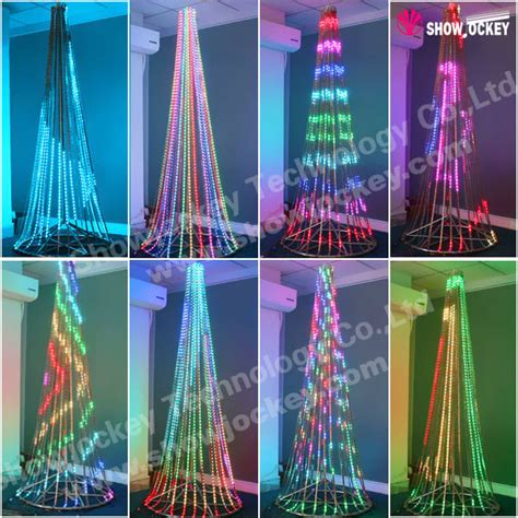 outdoor artificial cone trees with led light