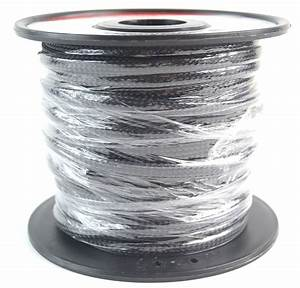 Black 1  4 50ft Braided Expandabletech Flex Sleeve Wiring