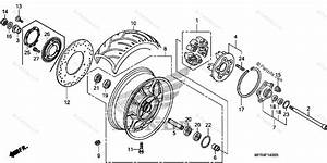 Honda Motorcycle 2010 Oem Parts Diagram For Rear Wheel