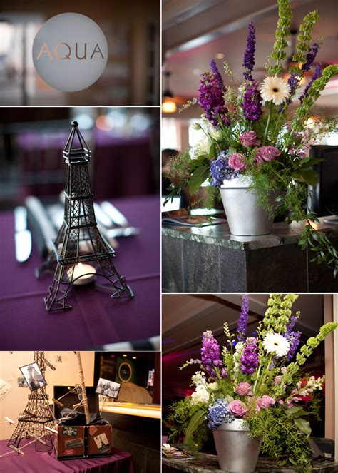 parisian theme decorations wedding flower