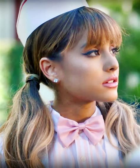ariana grande wavy medium brown ombre pigtails straight