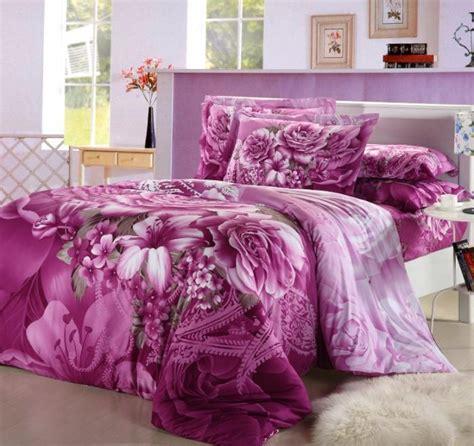 purple floral comforter bedding set king size queen flower