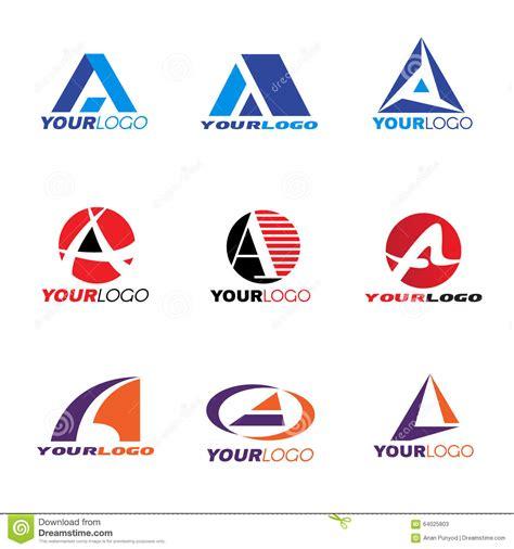 letter a logo vector set design stock vector image 64025803