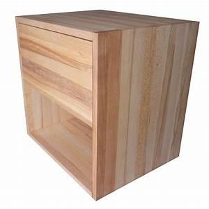 Table De Chevet Cube : table de chevet cube de rangement avec tiroir en bois de h tre massif huil ~ Teatrodelosmanantiales.com Idées de Décoration