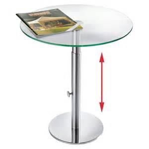 design beistelltisch glas ebinger glas beistelltisch edelstahl höhenverstellbar 48 5 65 cm