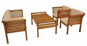 Lounge Set Holz : lounge garnitur loungeset malaga 4 teilig eukalyptus ge lt mit polstern creme ebay ~ Whattoseeinmadrid.com Haus und Dekorationen