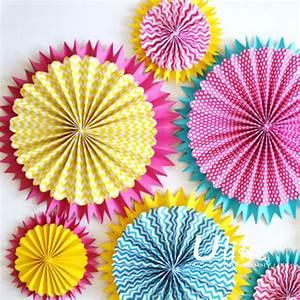 Diy Tissue Paper Hanging Pinwheel Fan Colorful Fan Hanging