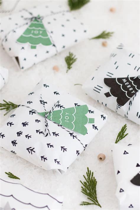 diy scandinavian pattern wrapping paper  printable