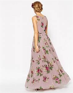 lyst asos wedding lilac floral super full maxi dress With floral maxi dress for wedding