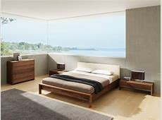 Lunetto Luxury Walnut Bed Modern Panel Beds london