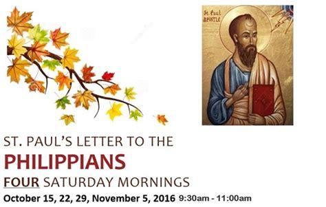 paul039s letter to the philippians benedictine