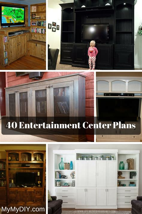 diy entertainment center plans ranked mymydiy