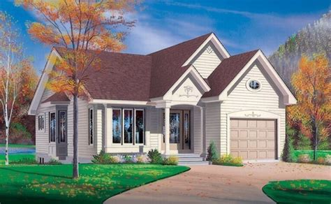 small house plans  attached garage homes plans