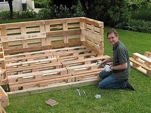 Plan Meuble Palette : meuble jardin palette plan canap palettes ~ Dallasstarsshop.com Idées de Décoration