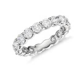 wedding anniversary bands classic eternity ring in platinum 3 ct tw blue nile