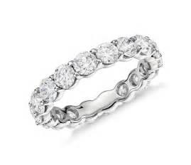 baguette wedding ring classic eternity ring in platinum 3 ct tw blue nile