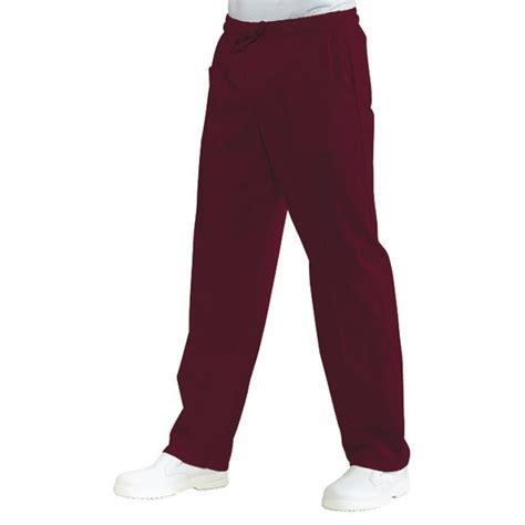 pantalon de cuisine femme pantalon de cuisine couleur bordeaux pour homme et femme lisavet